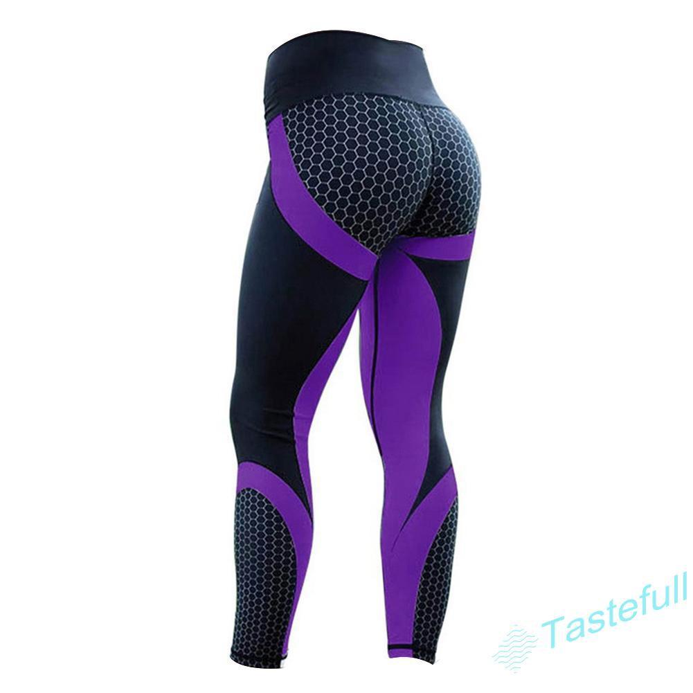TA Women European Fitness Leggings Running Print High Waist Sport Elastic Gym Pants