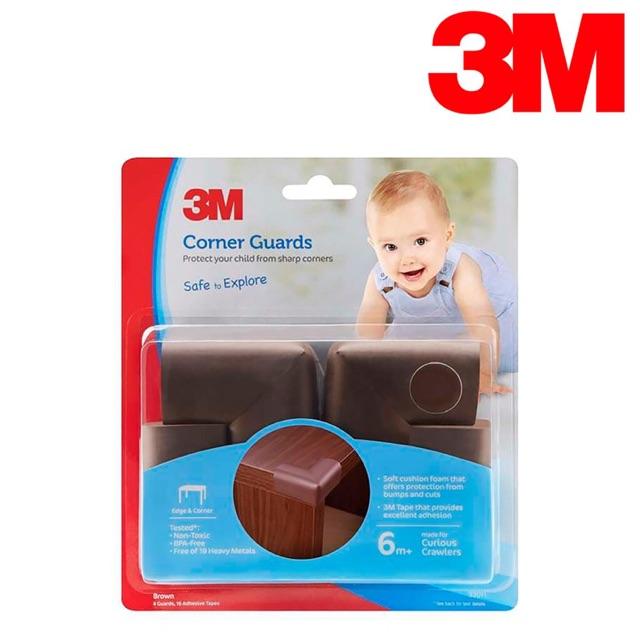 Bộ nẹp góc bàn an toàn cho bé 3M màu nâu bộ 4 cái nhập khẩu Hàn Quốc