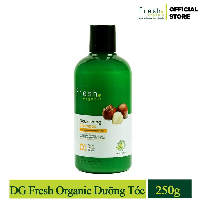 Hình ảnh [Tặng 1 Dầu Xả 65g] - Dầu Gội Fresh Organic Macadamia Oil Dưỡng Tóc 250g-1