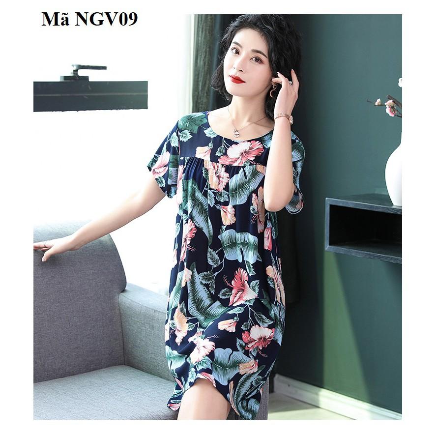 Váy, đầm mặc nhà cho người trung niên,người lớn tuổi (NGV08 ,NGV08X, NGV09 ,NGV10)