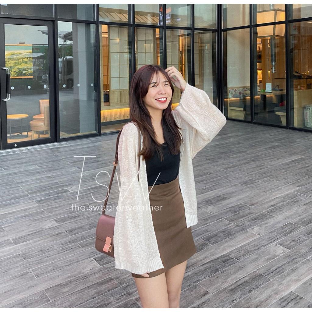 Chân váy ngắn chữ A thô chun (Ảnh thật)
