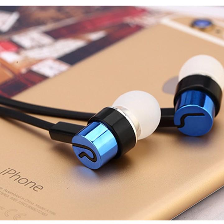 Tai nghe điện thoại in ear nhét tai chất âm tạm giá rẻ (5 màu) - Tai nghe nhét tai chống ồn rẻ vô địch trong tầm giá