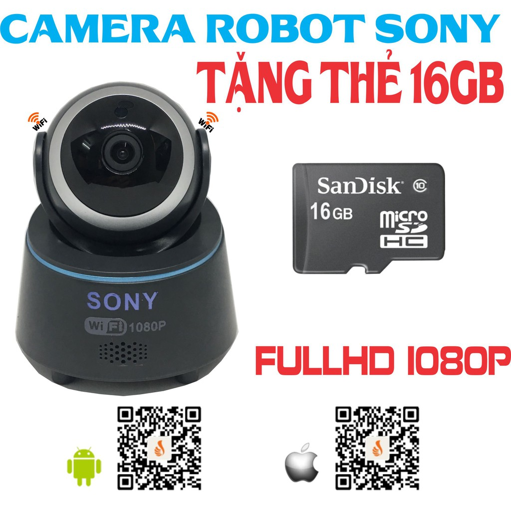 [COMBO] Camera robot Sony tặng thẻ 16gb - 3587139 , 1160198174 , 322_1160198174 , 700000 , COMBO-Camera-robot-Sony-tang-the-16gb-322_1160198174 , shopee.vn , [COMBO] Camera robot Sony tặng thẻ 16gb