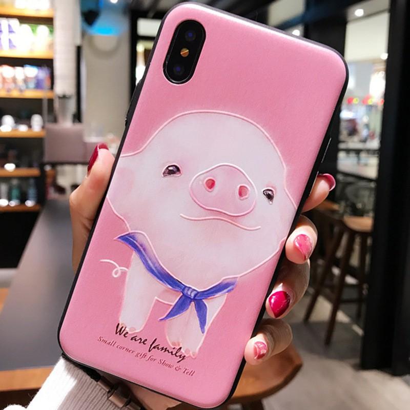 iPhone 6-X lợn trắng nền hồng cho iPhone