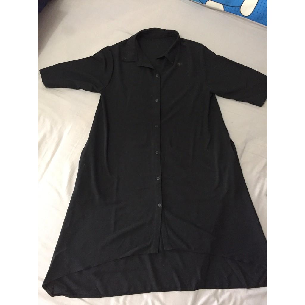 Váy sơ mi đen