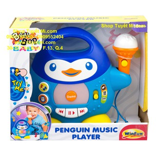 Hộp nhạc Penguin Music Player Microphone Winfun
