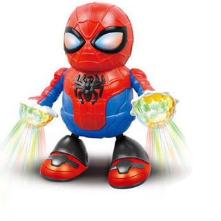 Dancing Hero Spider Man Doll Kids Early Educational Singing Lighting Toys Electric Robot