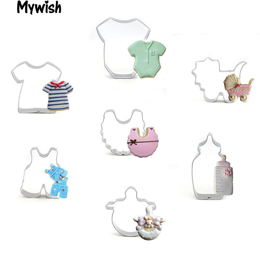 7Pcs Baby Clothes Stroller Bottle DIY Cake BiscuitTool