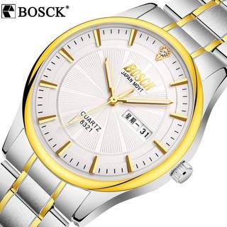 Đồng hồ nam BOSCK B0S01 dây thép mặt đính đá cao cấp