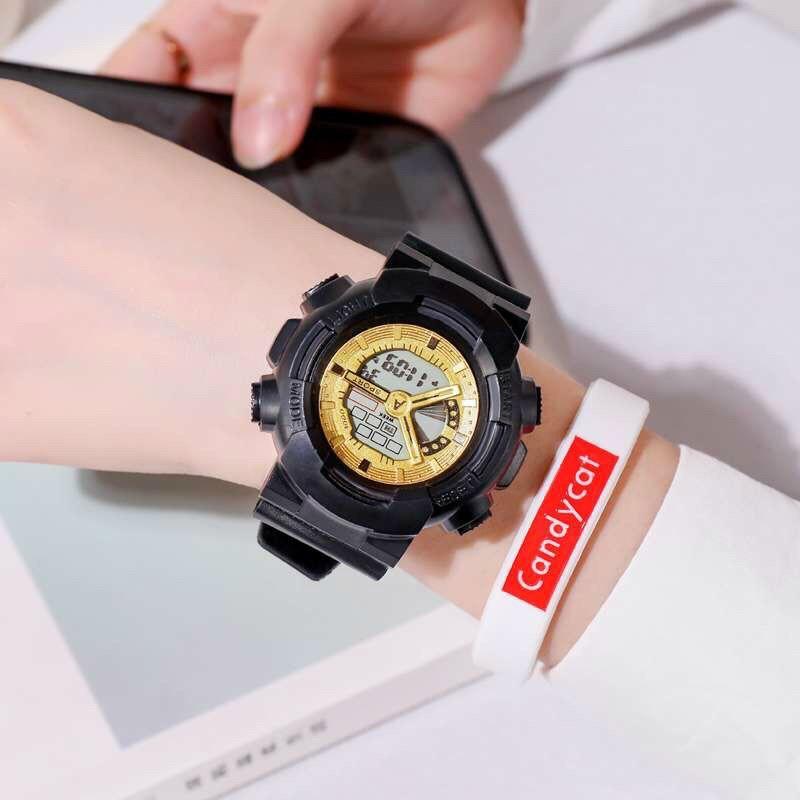 Đồng hồ điện tử thời trang nam nữ A-Sport As1 mặt tròn full chức năng cewx3