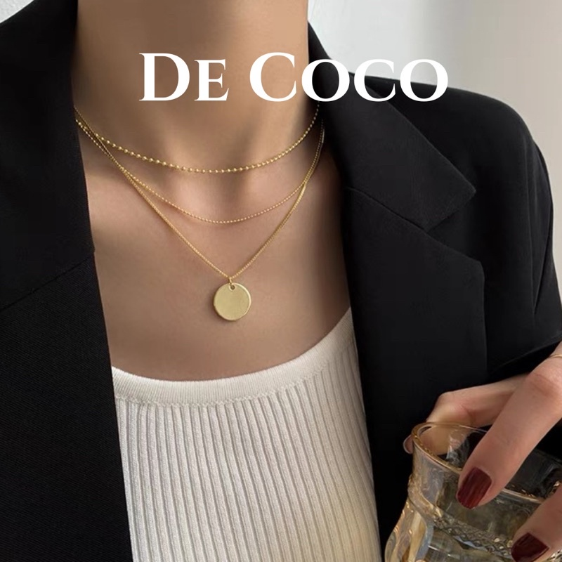 Vòng cổ titan layer ba lơp, Layering Necklace De Coco Decoco