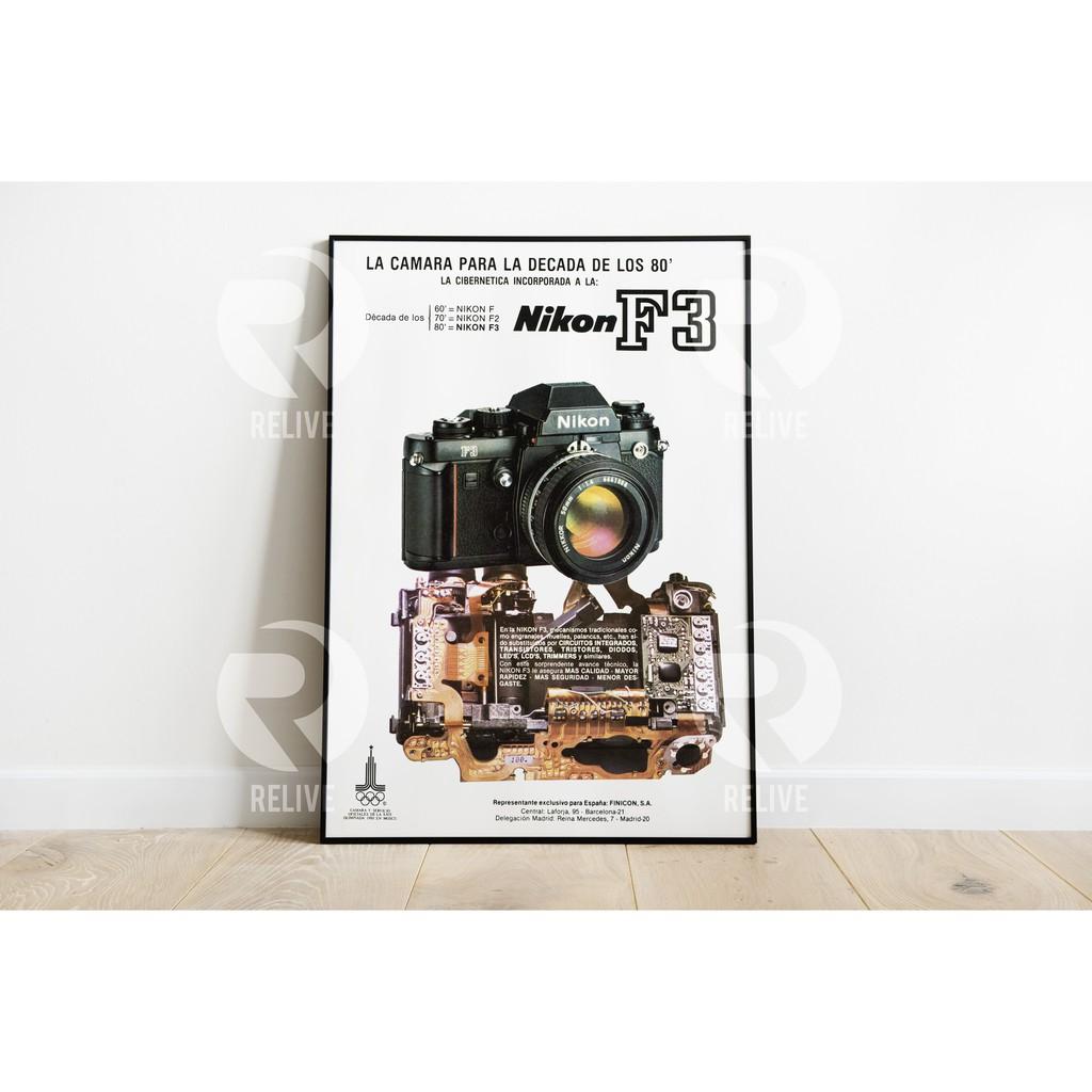 Poster โปสเตอร์ภาพ รวมกล้อง📷 นิคอน Nikon F3 📷