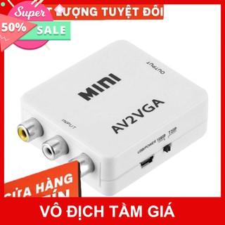 💚 Bộ Box Chuyển Đổi Tín Hiệu AV ra VGA Audio CVSB Model AV2VGA Hỗ Trợ Phân Giải FullHD 1080P Có Switch 720p và 1080p 5