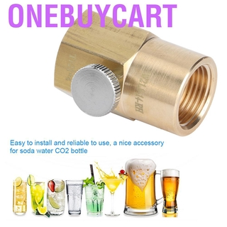 Onebuycart CO2 Cylinder Refill Adapter Tr21x4 To W21.8-14-RH Soda Water Filling