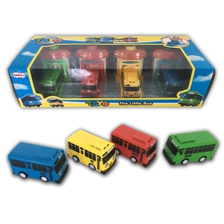 Tayo The Little Garasi 4 Pcs In 1 Set Doll Bus Toys Car 玩具 Kereta Mainan Control Decoration
