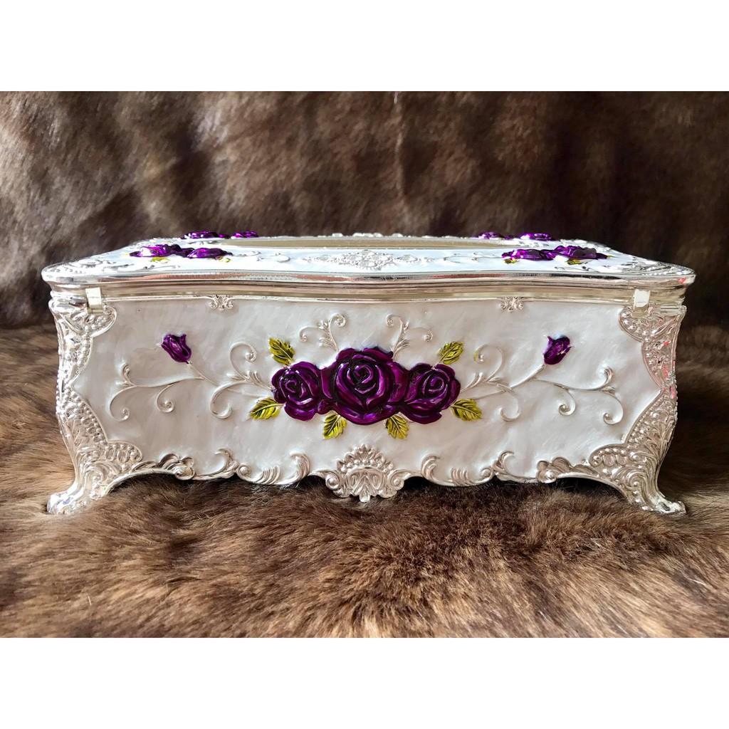 Hộp đựng khăn giấy chữ nhật Hợp kim Mạ bạc bông tím Hoàng gia Thái Lan - 3489874 , 775528419 , 322_775528419 , 520000 , Hop-dung-khan-giay-chu-nhat-Hop-kim-Ma-bac-bong-tim-Hoang-gia-Thai-Lan-322_775528419 , shopee.vn , Hộp đựng khăn giấy chữ nhật Hợp kim Mạ bạc bông tím Hoàng gia Thái Lan