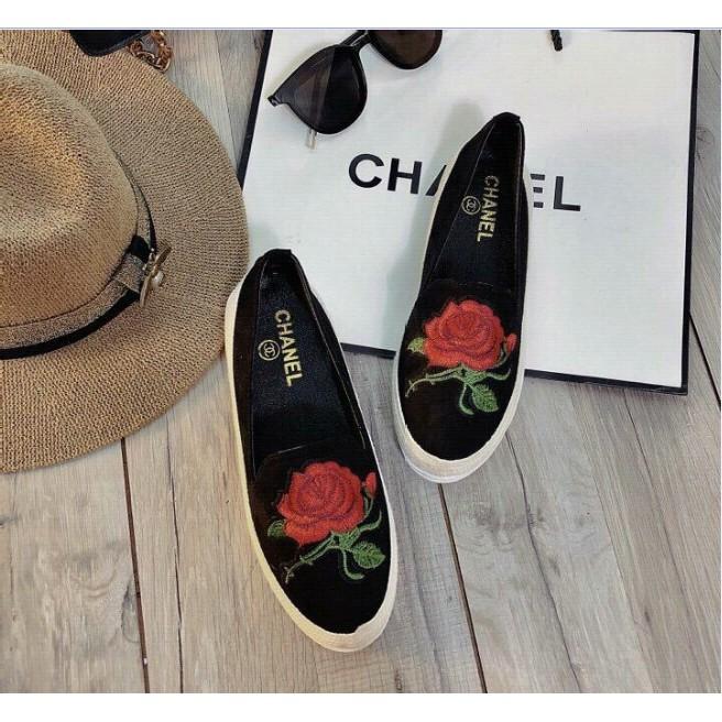 [ FREESHIP 99K ] Giày Slip cói thêu hoa cực đẹp