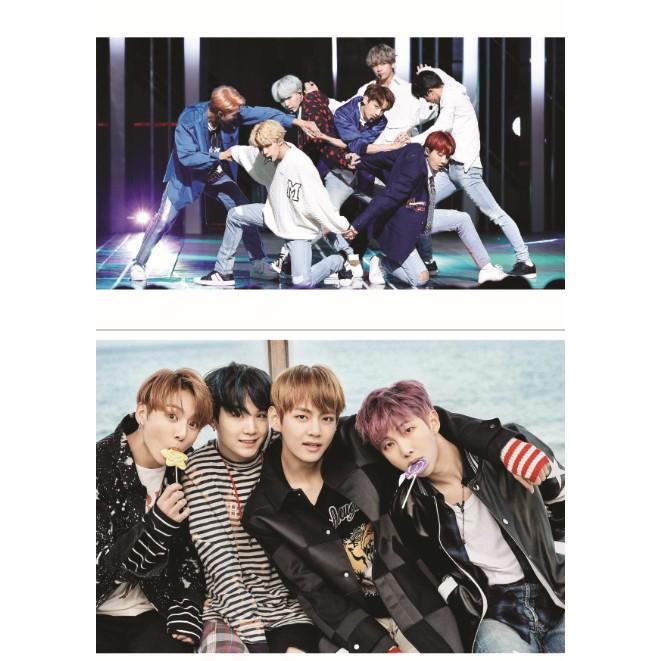 Poster Khổ A5 nhóm nhạc BTS full 12 ảnh (CÓ IN THEO YÊU CẦU)