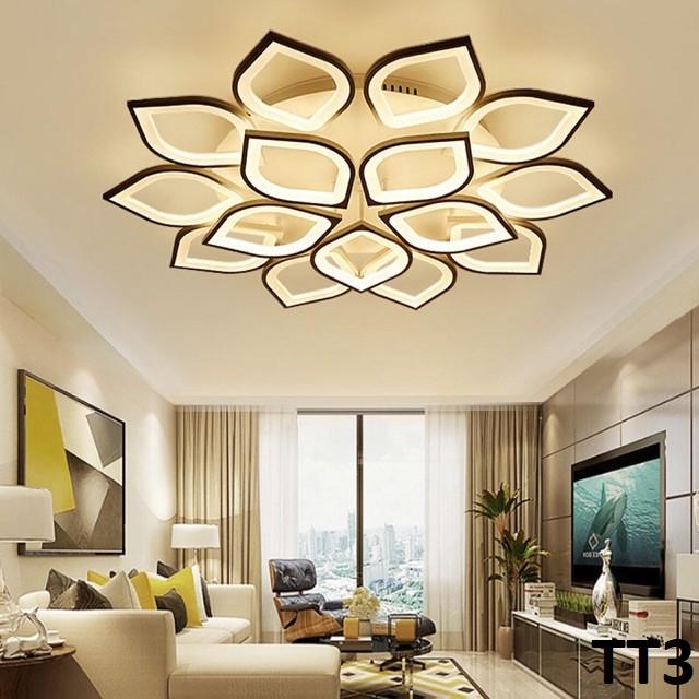 Đèn LED Ốp Trần, Đèn Ốp Trần Thạch Cao Đèn Trần Trang Trí Phòng Khách Phòng Ngủ 3 Chế Độ Sáng , Kèm Điều Khiển
