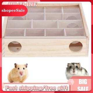 Đồ chơi mê cung bằng gỗ có 16 lỗ 13 ngăn cho chuột Hamster thú vị[ hot sale ] thumbnail