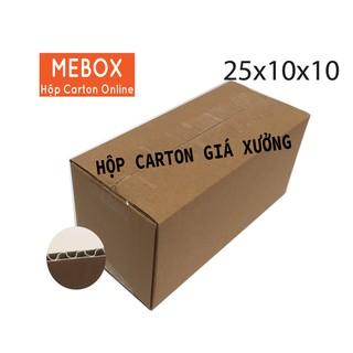 10 hộp carton 25x10x10