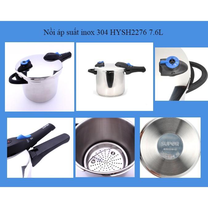 Nồi áp suất inox Supor HYSH2276 7,6L