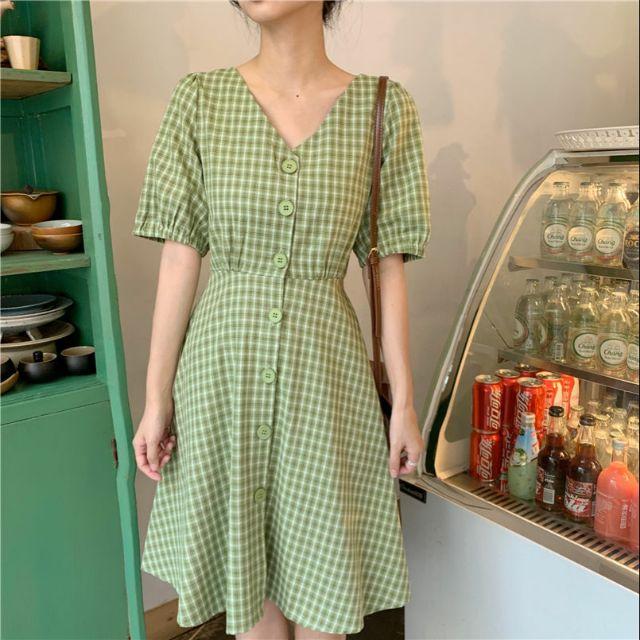 (Order) Váy thô kẻ hở lưng siêu xinh BIGSIZE có ảnh thật (3 ảnh cuối bài)