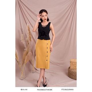 Jupe vàng lông cừu cúc thiết kế Elise thumbnail