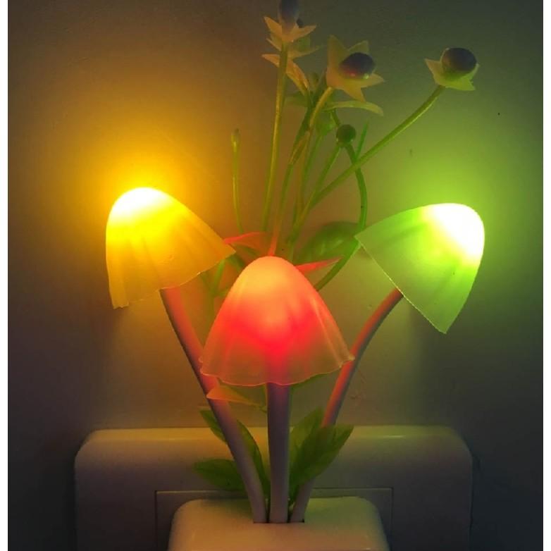 [6/6 HOT DEAL] Đèn ngủ avatar hình nấm cảm ứng ánh sáng đổi màu procare