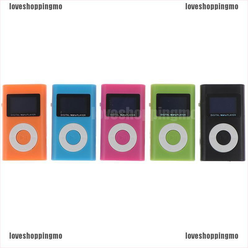 [GSOP] 1PC Mini MP3 Player Mini LCD Screen Micro TF Card Portable Sports MP3 player LII