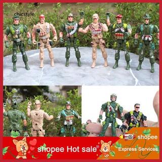 ❤❤❤9cm Mini Kids Plastic Military Soldier Model Army Men Figure Toy Home Decor