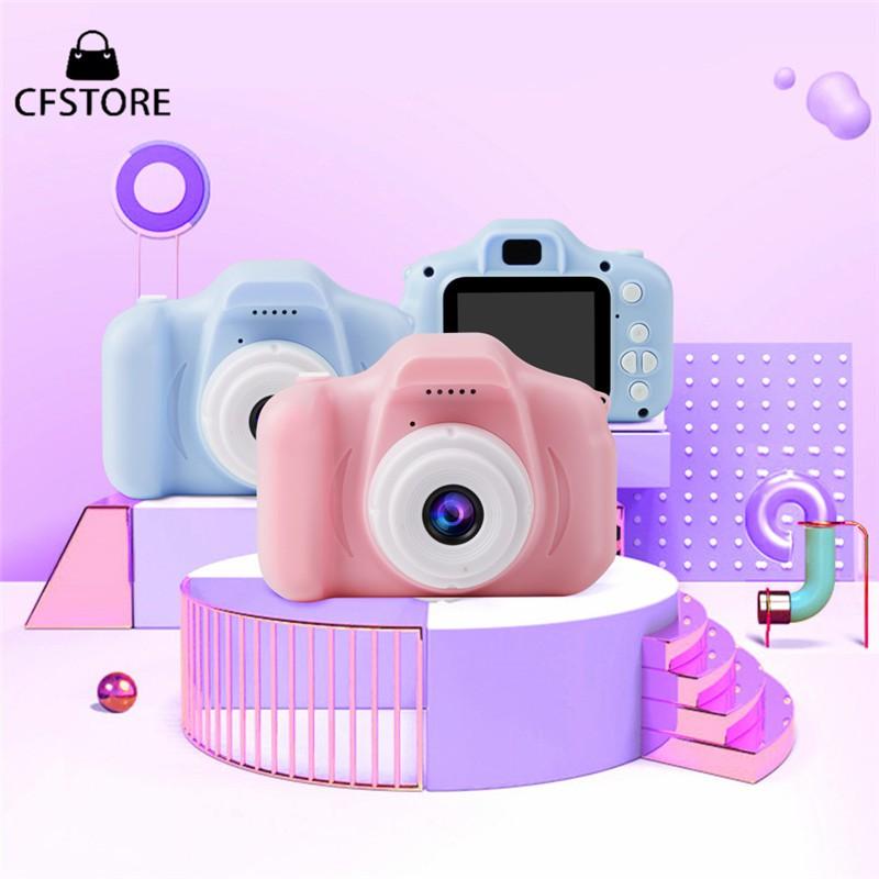 Bộ máy ảnh kỹ thuật số màn hình 2inch thiết kế xinh xắn đồ chơi cho trẻ em kèm phụ kiện