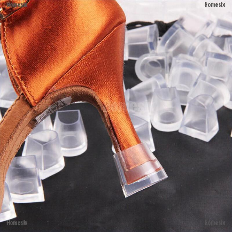 Set 1/5 cặp nắp bịt gót giày trong suốt chất lượng cao