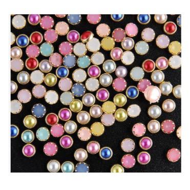 200 viên ngọc đủ màu trang trí trong nghệ thuật làm móng tay