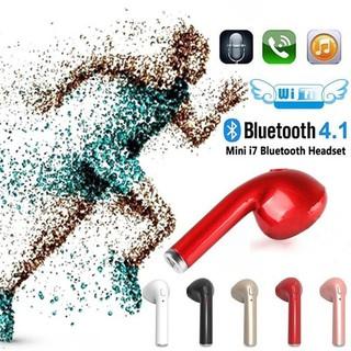 Tai nghe không dây V4.1 Tai nghe Bluetooth I7 Tai nghe thể thao tàng hình Tai nghe móc tai có mic