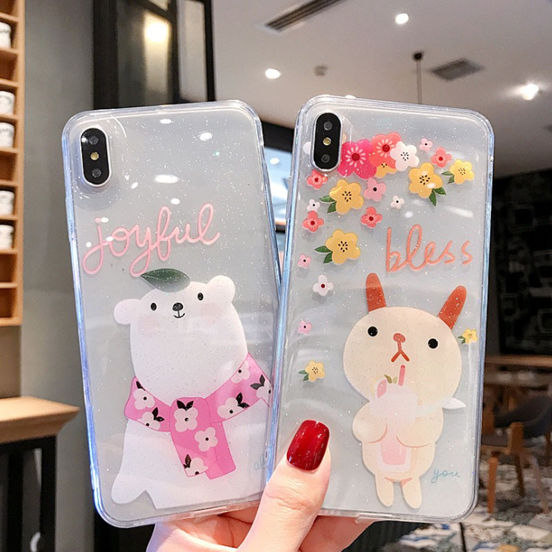 bear iphoneX/XS XR Xsmax iphone case iphone7plus/8plus iphone6/6s tpu case iphone7/8 soft case iphone6plus/6s plus