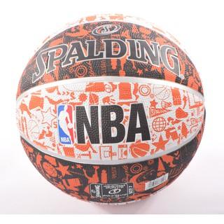 Bóng rổ Spalding NBA Graffiti Outdoor Size 7 Tặng bộ kim bơm bóng và lưới đựng bóng
