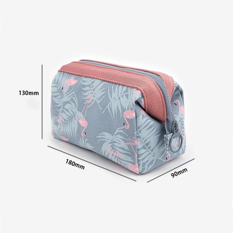 Túi đựng mỹ phẩm chống thấm nước họa tiết hồng
