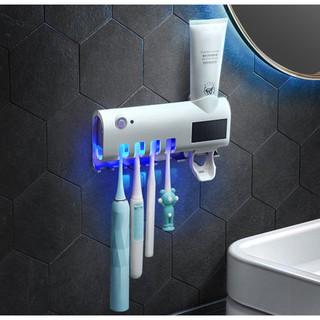 Máy Nhả Kem Đánh Răng Kiêm Máy Tiệt Trùng Vi Khuẩn Bàn Chải Đánh Răng Cao Cấp Tia UV Lên Tới 99% Đảm Bảo Sức Khỏe Cả Nhà