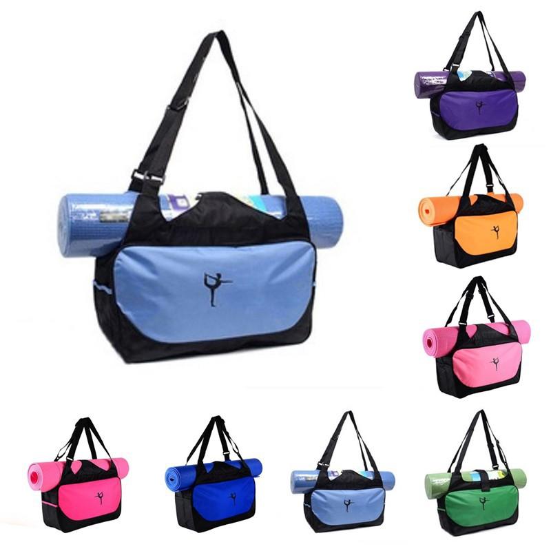 Multifunctional Large Oxford Yoga Mat Bag Gym Sports Bag Water Resistant