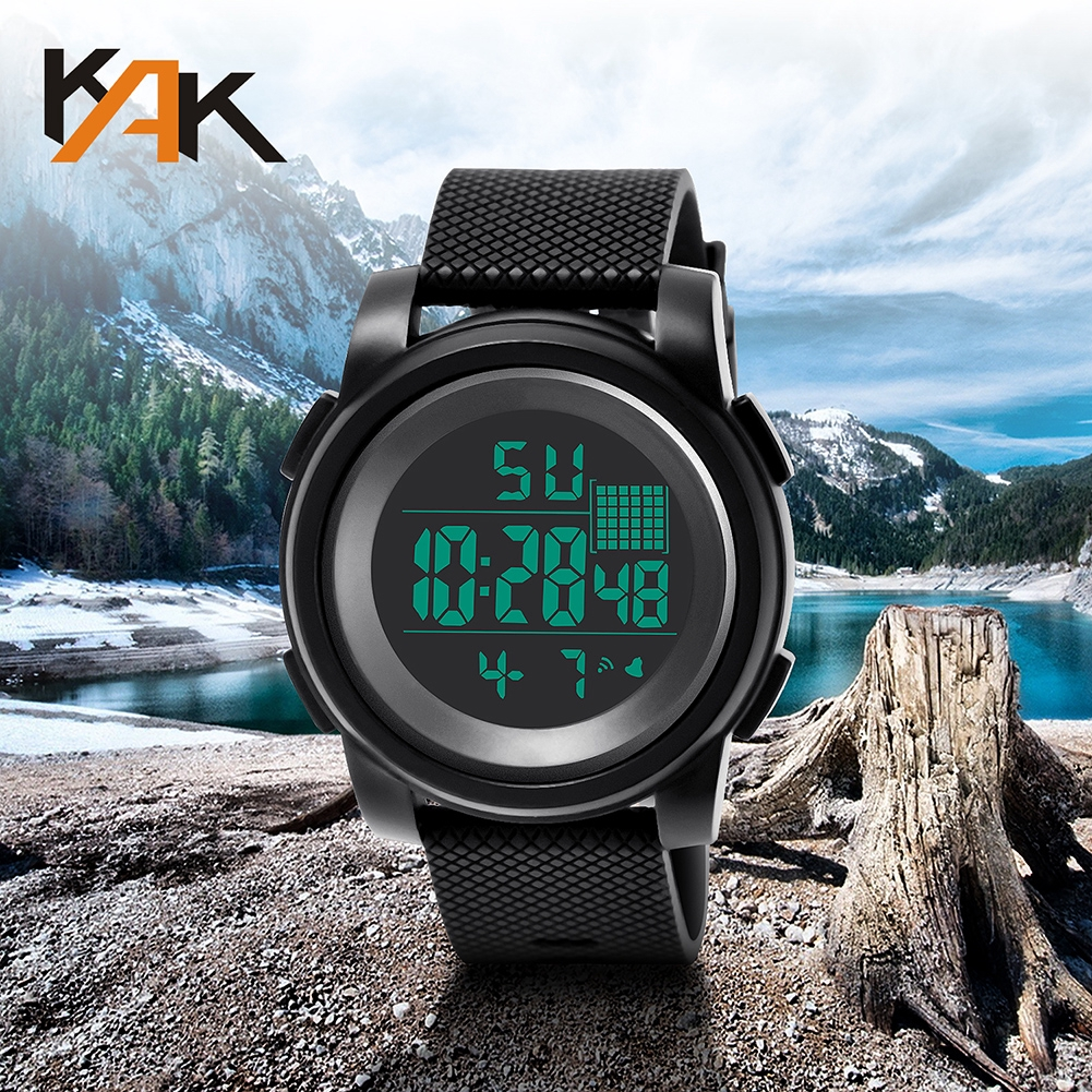Outdoor sports watch stopwatch chronograph step running watch waterproof multi-function electronic watch