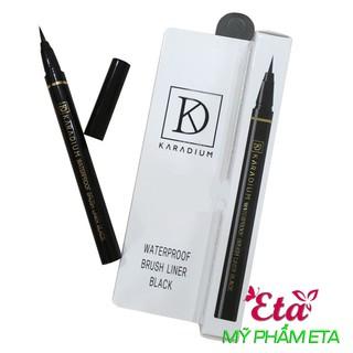 Dạ kẻ mắt Karadium Waterproof Brush LINER Black nét mảnh sắc nét, chống lem