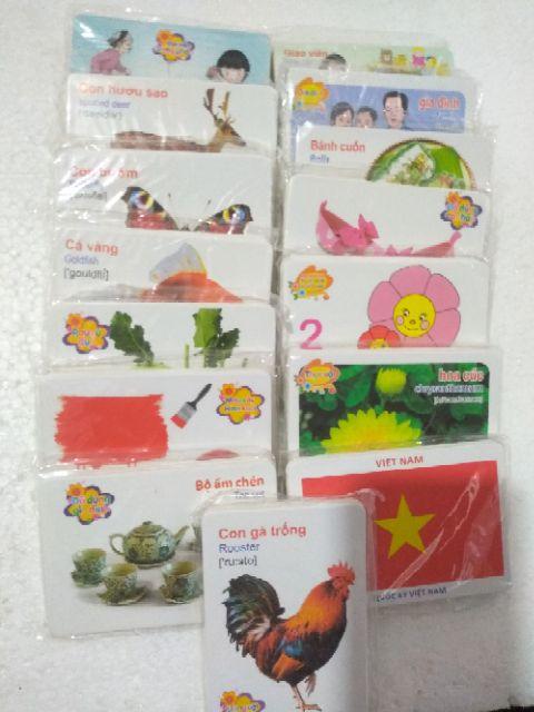 Bộ Thẻ Học Thông Minh.16 Chủ Đề Song Ngữ Anh-Việt