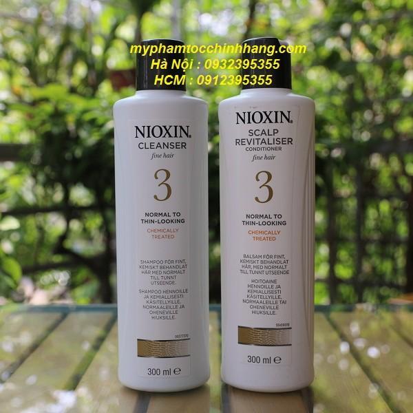 DẦU GỘI/XẢ NIOXIN 3 300ML/300ML