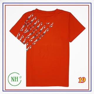 Áo thun cho bé từ 45kg đến 60kg – áo thun ngắn tay BIG SIZE – áo thun nhiều màu, họa tiết sọc ngang vai – NH Kids Shop