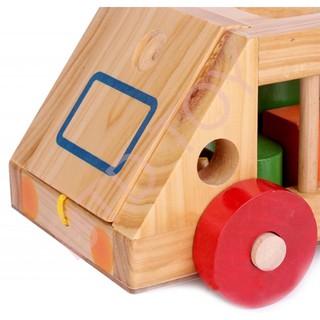 [Giá Hủy Diệt] Xe thả hình khối – đồ chơi giáo dục an toàn cho bé