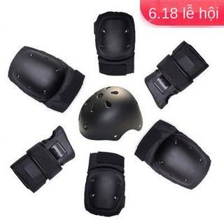DBH trẻ vị thành niên, người lớn, thể thao, thiết bị mũ bảo hiểm chống trượt an toàn, 6 bộ, đầu gối khuỷu tay, thumbnail