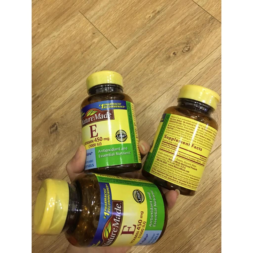 Vitamin E 450mg tương đương 1000IU Nature Made hộp 60 viên