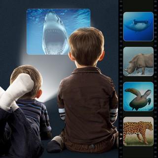 Kids Đèn pin Storybook Torch HD Hoạt hình Đồ chơi giáo dục sớm Máy chiếu cầm tay Máy học