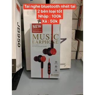 Tai Nghe Thể Thao Bluetooth S30 [XẢ HÀNG IZFABO] - Có Mic - Nhỏ gọn - Chống Ồn - JAVA Shop
